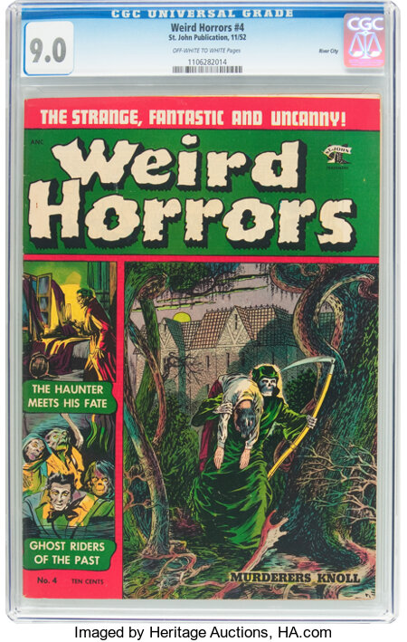 Weird Horrors #4 River City Pedigree (St. John, 1952) CGC VF/NM 9.0 Off-white to white pages....