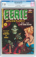 Golden Age (1938-1955):Horror, Eerie Adventures #1 (Ziff-Davis, 1951) CGC FN/VF 7.0 Cream to off-white pages....