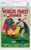 Golden Age (1938-1955):Superhero, World's Finest Comics #3 (DC, 1941) CBCS VG 4.0 Cream to off-white pages....