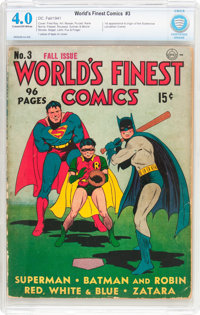 World's Finest Comics #3 (DC, 1941) CBCS VG 4.0 Cream to off-white pages