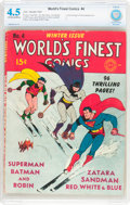 Golden Age (1938-1955):Superhero, World's Finest Comics #4 (DC, 1941) CBCS VG+ 4.5 Off-white to white pages....