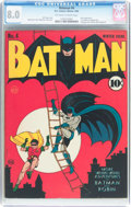 Golden Age (1938-1955):Superhero, Batman #4 (DC, 1940) CGC VF 8.0 Off-white to white pages....