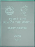 Baseball Collectibles:Others, 1987 Gary Carter Mets Player of the Month Award from The GaryCarter Collection....