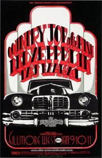 Led Zeppelin/Country Joe and the Fish Fillmore West Concert Poster (Bill Graham, 1969)