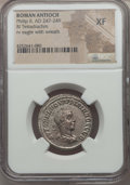 Ancients:Roman Provincial , Ancients: SYRIA. Antioch. Philip II (AD 247-249). AR tetradrachm.NGC XF....