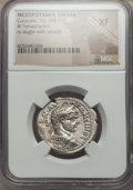Ancients:Roman Provincial , Ancients: MESOPOTAMIA, Edessa. Caracalla (AD 198-217). ARtetradrachm. NGC XF....