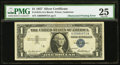 Error Notes:Obstruction Errors, Fr. 1619 $1 1957 Silver Certificate. PMG Very Fine 25.. ...