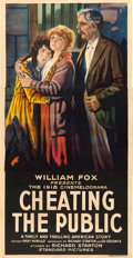 "Movie Posters:Drama, Cheating the Public (Fox, 1918). Three Sheet (41"" X 80"").. ..."
