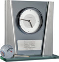 Baseball Collectibles:Others, Silver Tee Presentational Clock and Golf Ball from The Gary CarterCollection....