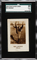 Football Cards:Singles (Pre-1950), 1925 Star Player Candy Red Grange SGC 20 Fair 1.5 - Only TwoSGC/PSA Graded Examples!. ...