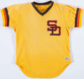 Baseball Collectibles:Uniforms, 1979 Bobby Tolan Game Worn San Diego Padres Batting Practice Jersey. ...