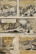 Original Comic Art:Panel Pages, Jack Kirby, Mort Meskin and Steve Ditko Captain 3-D #1 Pages18, 24, 27, and 31 Original Art Group of 4 (Harvey, 1... (Total: 4Items)