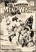 Original Comic Art:Covers, Russ Heath All-American Men of War #101 Cover Original Art(DC, 1964)....