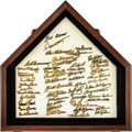 Baseball Collectibles:Others, 1980's-90's Hall of Famers Signed Home Plate with Over 50Autographs....