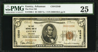 Gentry, AR - $5 1929 Ty. 1 The First NB Ch. # 12340