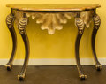Furniture , A Pair of Portuguese-Rococo-Style Painted and Giltwood Consoles, late 20th c.. 33 h x 48 w x 20-1/2 d inches (83.8 x 121... (Total: 2 Items)