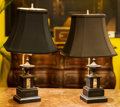 Decorative Arts, Continental, A Pair of Neoclassical Vari-Colored Marble Table Lamps, 20thcentury. 18-1/2 inches high (47.0 cm). ... (Total: 2 Items)