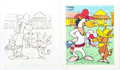 Animation Art:Production Drawing, Quick Draw McGraw Playskool Wooden Tray Puzzle IllustrationOriginal Art Group of 2 (Hanna-Barbera, 1970s).... (Total: 2Original Art)