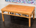 Asian:Chinese, A Chinese Hardwood Low Table. 18-1/2 h x 42-1/4 w x 24 d inches(47.0 x 107.3 x 61.0 cm). ...
