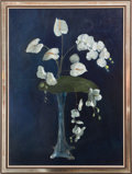 Paintings, A Still Life with Calla Lilies and Orchids Oil on Canvas, 20th century. Signed A.C. Delauney lower right, in gray wash f...