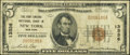 National Bank Notes:New York, New York, NY - $5 1929 Ty. 1 The Fort Greene NB Ch. # 13336. ...