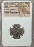 Ancients:Roman Imperial, Ancients: Constantine I the Great (AD 307-337). Æ3 or BI nummus(3.30 gm). NGC MS ★ 5/5 - 5/5....