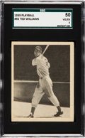 Baseball Cards:Singles (1930-1939), 1939 Play Ball Ted Williams #92 SGC 50 VG/EX 4....
