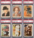 "Non-Sport Cards:Sets, 1959 Fleer ""Three Stooges"" Complete Set (96) Plus Wrapper. ..."