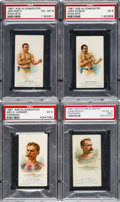Boxing Cards:General, 1887 N28 Allen & Ginter PSA Graded Quartet (4). ...