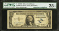 Error Notes:Obstruction Errors, Fr. 1608 $1 1935A Silver Certificate. PMG Very Fine 25 EPQ.. ...