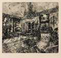 Prints:Contemporary, RICHARD ARTSCHWAGER (American b. 1923). Interior 1, 1977.Etching. 9 x 9-3/4 inches (22.9 x 24.8 cm). Signed, dated, and...