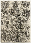 Prints:Old Master, ALBRECHT DÜRER (German 1471-1528). The Beast with Two Horns Likea Lamb from The Apocalypse, circa 1496-97. Woodcut...