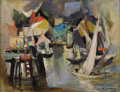 Fine Art - Painting, American:Contemporary   (1950 to present)  , WILLIAM MEYEROWITZ (American 1887-1981). Untitled,Sailboats. Oil on canvas. 14 x 18 inches (35.6 x 45.7 cm).Signed low...