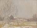 Fine Art - Painting, American:Modern  (1900 1949)  , EDWIN ROSCOE SHRADER (American 1878-1960). Untitled, WinterLandscape. Oil on canvas. 12-1/8 x 16 inches (30.8 x 40.6 cm...
