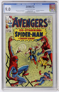 The Avengers #11 (Marvel, 1964) CGC VF/NM 9.0 Off-white to white pages