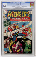Silver Age (1956-1969):Superhero, The Avengers #7 (Marvel, 1964) CGC VF 8.0 Off-white to white pages....