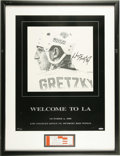 Hockey Collectibles:Others, Wayne Gretzky Signed Lithograph. A champion of the ice who earned the tell-all moniker of The Great One, Wayne Gretzky held...