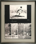Autographs:Photos, Willie Mays Signed Photograph. Willie Mays' famous dramatic catchin the 1954 World Series has been depicted in this oversi...