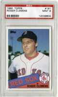 Baseball Cards:Singles (1970-Now), 1985 Topps Roger Clemens #181 PSA Mint 9. Over the past 21 seasons, no pitcher has been as dominant as the Rocket. Offere...
