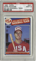 Baseball Cards:Singles (1970-Now), 1985 Topps Mark McGwire #401 PSA Mint 9. On his '85 Topps issue rookie card, McGwire is highlighted for his involvement wit...