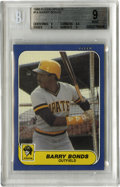 Baseball Cards:Singles (1970-Now), 1986 Fleer Update Barry Bonds #U-14 BGS Mint 9. Rookie card fromthe modern-day home run king grades mint and, as a result,...