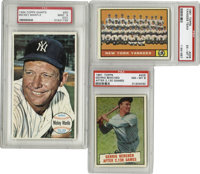 1961-64 Topps New York Yankees Cards PSA-Graded Lot of 3. Includes 1961 Topps #228 New York Tankees team EX-MT 6; 1961 T...