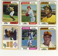 1974 Topps Baseball Set. Beautiful 1974 Topps baseball set that contains 660 cards. The complete set grades an overall N...