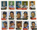Autographs:Sports Cards, 1953 Topps Reprint Near Complete Set, Signed Lot of 212. All thecards from the '53 Topps reprint set are present except fo...
