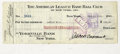 Autographs:Checks, 1922 Jacob Ruppert & Lawton Witt Signed Payroll Check. Legendary Yankees president signs off on a Babe Ruth-era Lawton Witt ...