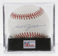 Autographs:Baseballs, Luis Aparicio Single Signed Baseball, PSA Mint 9. HOF infielderLuis Aparicio gives us this flawless sweet spot signature o...