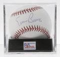 Autographs:Baseballs, Ernie Banks Single Signed Baseball, PSA Gem Mint 10. Simplyflawless sweet spot signature by Mr. Cub himself can only be ma...
