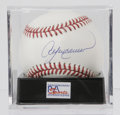 Autographs:Baseballs, Andre Dawson Single Signed Baseball, PSA Mint+ 9.5. Andre Dawsonhas applied a perfect signature to the sweet spot of this ...