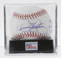 Autographs:Baseballs, Dennis Eckersley Single Signed Baseball, PSA Mint+ 9.5. One of thefew relief pitchers to make it to Cooperstown (although ...