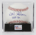Autographs:Baseballs, Bob Gibson Single Signed Baseball, PSA Mint+ 9.5. With nine GoldGloves, a WS MVP, eight All-Star games, a NL MVP and a rid...